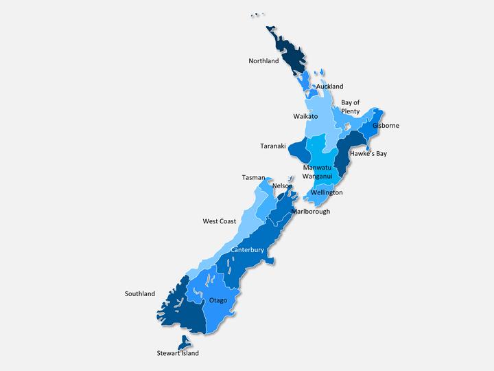 New-zealand Map